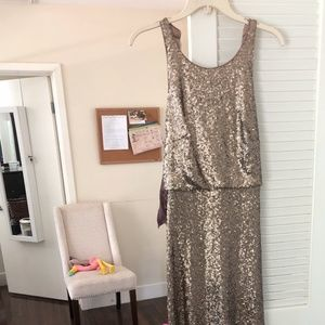 Jenny Yoo Sloan Halter Sequin Dress